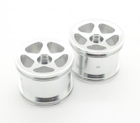 GPM Racing Associated RC18T Alloy Standard Sinkage Surface Rims (Star) (Silver) (1pr)