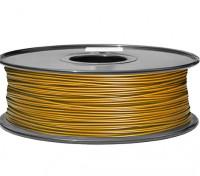 HobbyKing 3D Printer Filament 1.75mm PLA 1KG Spool (Metallic Gold)