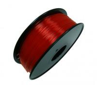 HobbyKing 3D Printer Filament 1.75mm PLA 1KG Spool (Translucent Red)
