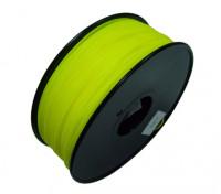 HobbyKing 3D Printer Filament 1.75mm HIPS 1KG Spool (Solid Yellow)