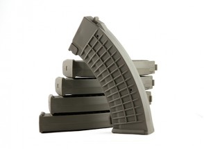 King Arms 110rounds Polish type magazines for Marui AK AEG (Olive Drab, 5pcs/ box)