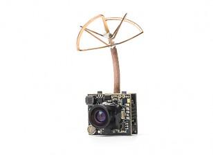 Adjustable Power 25mW / 200mW 5.8GHz 48CH NTSC/PAL Mini VTX FPV Camera Combo (Cloverleaf Antenna)