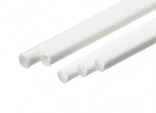 ABS Round Rod 2.0mm x 500mm White (Qty 5)