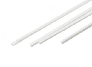 ABS Square Rod 1.0mm x 1.0mm x 500mm White (Qty 5)