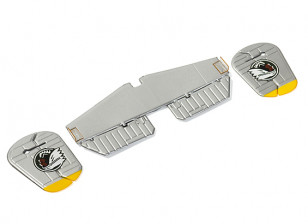 H-King Micro B-25J Mitchell - Horizontal and Vertical Stabilizer Set