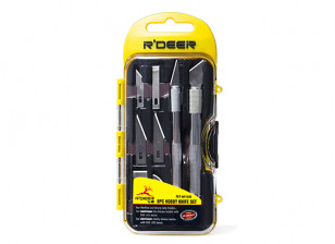 8pc Modelling Knife Set with Carry Case