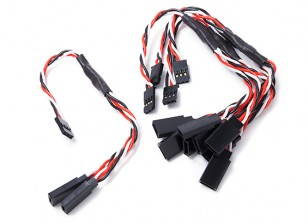 Twisted 15cm Y Servo Leads (Futaba) 24AWG (5pc)