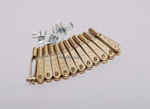 Twelve 2-56 Gold-N-Clevises