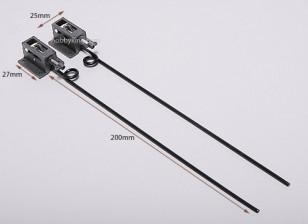 Plastic Mechanical Retracts D2.5*L130mm