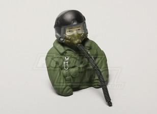 Model JET Pilot 1/6 (Green) (H80 x W68 x D37mm)