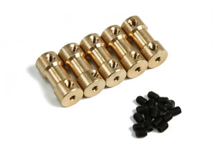 Brass Motor Transmission Connector 2mm-2mmxD9xH20mm (5pcs)