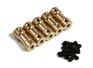Brass Motor Transmission Connector 3mm-2.3mmxD9xH20mm (5pcs)