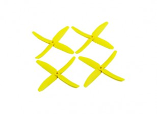 "Dalprops ""Indestructible"" PC 5040 4-Blade Props Yellow (CW/CCW) (2 pairs)"