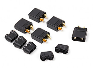 Nylon XT90 Connectors Male (5 pcs/bag) Black