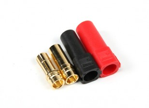 XT150 ESC Side w/6mm Gold Connectors - Red & Black (5pairs/bag)