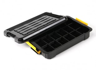 Plastic Multi-Purpose Organizer - 18 Compartment (Black)