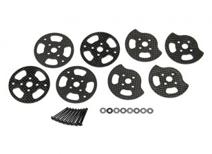 Quanum Chaotic 3D Quad - Replacement Carbon Fiber Motor Mount Set