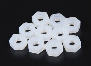 M4 Nylon Nut (10pcs/bag)