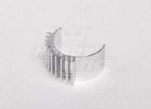 Silver Aluminum Motor Heat Sink (24mm diameter motor)