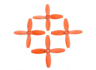 Lumenier FPV Racing Propellers 4040 4-Blade Orange (CW/CCW) (2 Pairs)