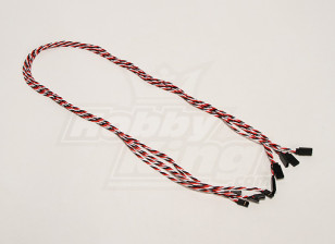 Twisted 100cm Servo Lead Extention (Futaba) 22AWG (5pcs/set)