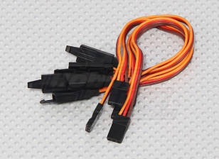 15cm Servo Lead Extention (JR) with hook 26AWG (5pcs/bag)