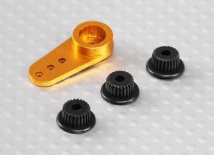 Aluminum One-way Universal Servo Arm - JR, Futaba & HITEC (Golden)