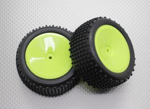 Rear Buggy Tyre Set (Dish Rim)  - 1/10 Quanum Vandal 4WD Racing Buggy (2pcs)