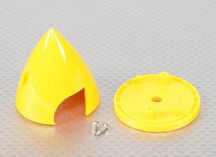"Plastic Spinner 2"" Yellow"