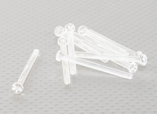 Transparent Polycarbonate Screws M4x45mm - 10pcs/bag