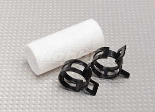 Teflon Coupler with clips (22mm Pipe) for Muffler