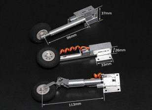 Turnigy Full Metal Servoless Retracts with Oleo Legs (Tricycle, F86 type)