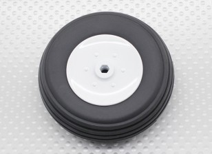 Turnigy 65mm Plastic Wheel/Rubber Tyre 4mm Axle