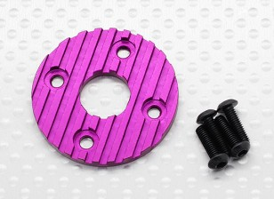 Aluminum CNC Motor Heatsink Plate 36mm (Purple)