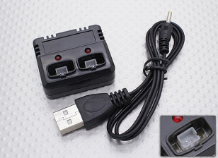 FP100 Helicopter Dual Battery Charger USB Version 2.