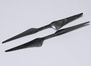 Multirotor Carbon Fiber T-Style Propeller 15x5.5 Black (CW/CCW) (2pcs)