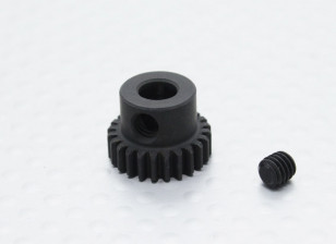 24T/5mm 48 Pitch Hardened Steel Pinion Gear