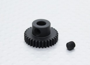 33T/5mm 48 Pitch Hardened Steel Pinion Gear