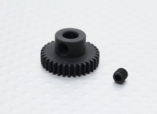34T/5mm 48 Pitch Hardened Steel Pinion Gear