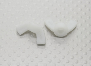 Nylon Wing Nuts M5 - 2pcs