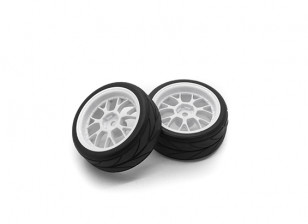 HobbyKing 1/10 Wheel/Tire Set VTC Y Spoke(White) RC Car 26mm (2pcs)