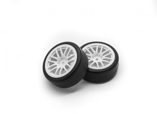 HobbyKing 1/10 Wheel/Tire Set  Y-Spoke (White)  RC Car 26mm (2pcs)