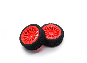 HobbyKing 1/10 Wheel/Tire Set AF Rally Spoke(Red) RC Car 26mm (2pcs)