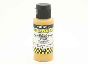 Vallejo Premium Color Acrylic Paint - Yellow Ochre (60ml) 62.015