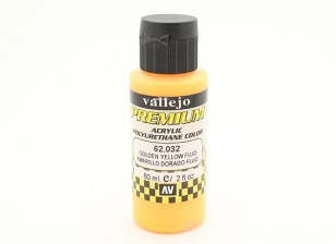 Vallejo Premium Color Acrylic Paint - Golden Yellow Fluo (60ml) 62.032