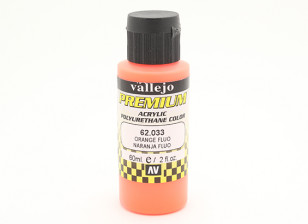 Vallejo Premium Color Acrylic Paint - Orange Fluo (60ml) 62.033