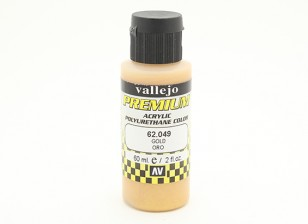 Vallejo Premium Color Acrylic Paint - Gold (60ml) 62.049