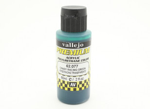Vallejo Premium Color Acrylic Paint - Candy Racing Green (60ml) 62.077