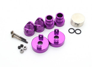Invisible Aluminum Body Mount Posts (2pcs) Purple