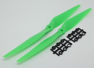 HobbyKing™ Propeller 11x5 Green (CCW) (2pcs)
